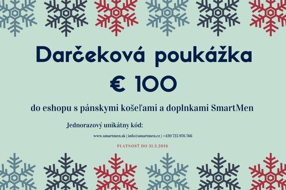 41012daec2c1 Darčekový poukaz na 100 eur v eshope s pánskymi košelami