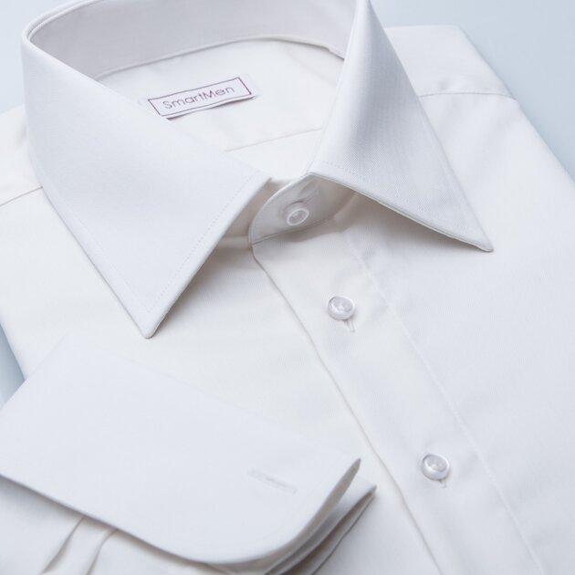 3820a5c8b861 Na svadbu smotanová košeľa
