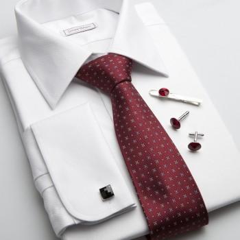 Luxusná košela na manžetové gombíky a hodvábna kravata SmartMen 8c5752d102