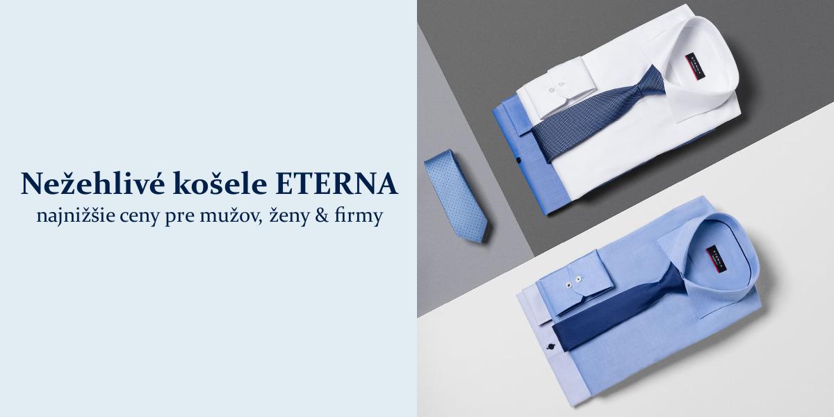 70ef3d45b1e3 Najlepšie nežehlivé košele ETERNA za najnižšie ceny v eshope SmartMen.sk