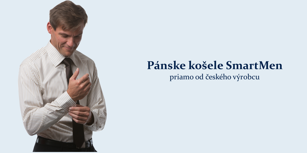 b6b95a626605 Kvalitné pánske košele SmartMen českej výroby