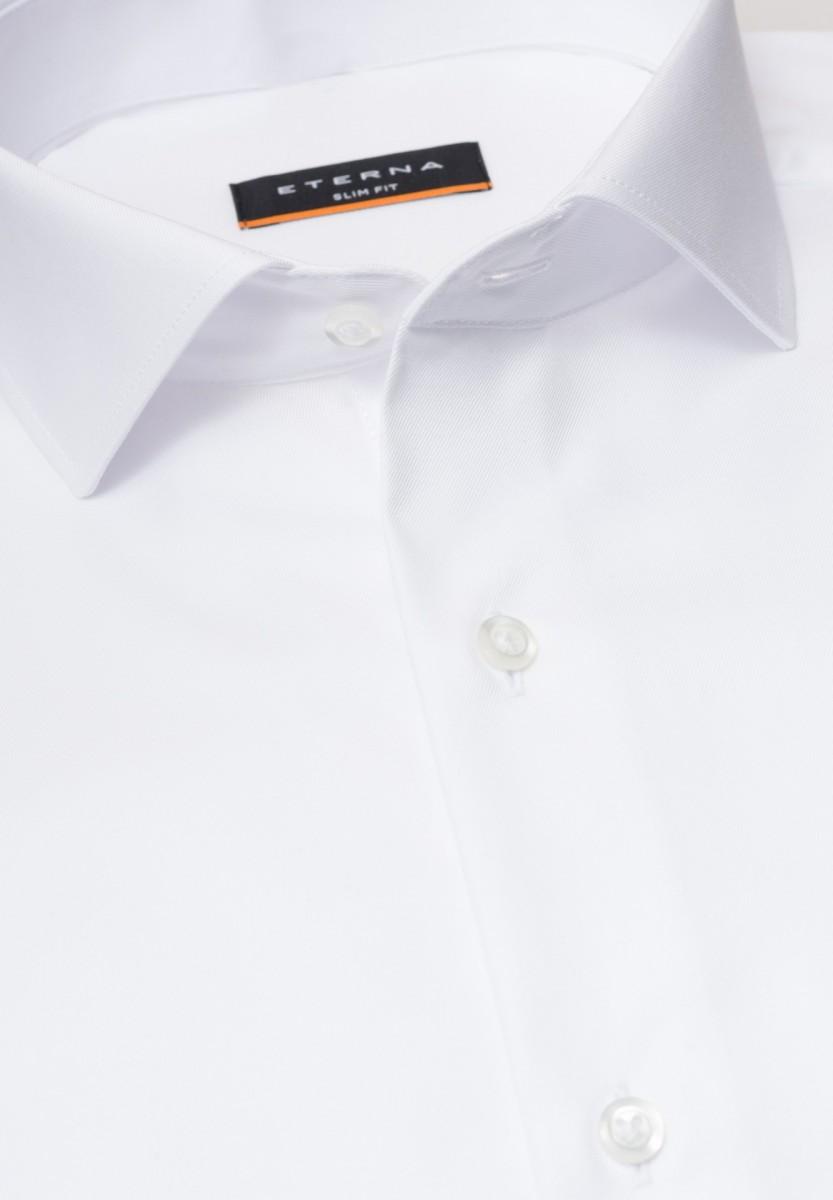 dfaebdd72b9c ETERNA Slim Fit biela nie presvitajúca košeľa dlhý rukáv