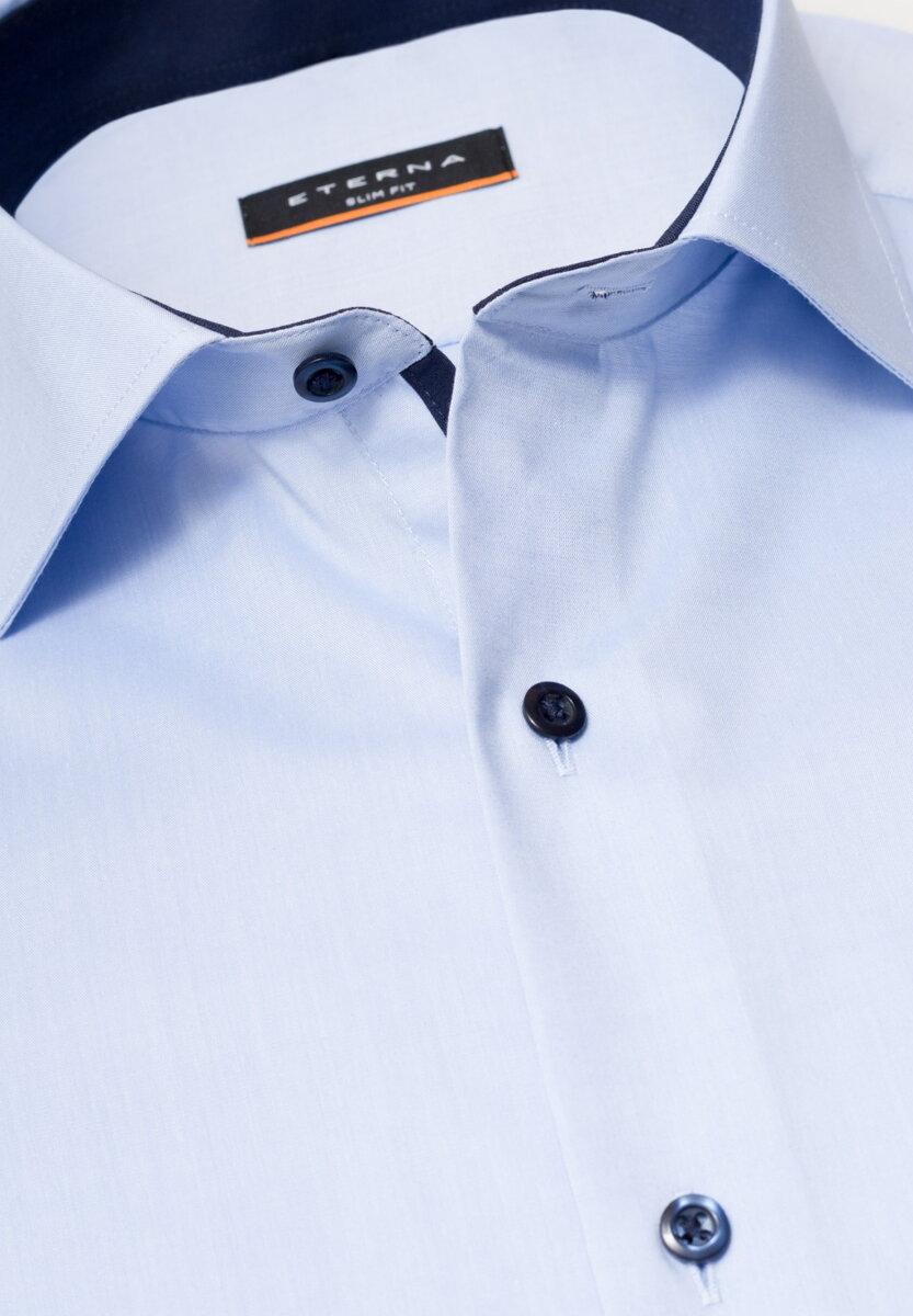 994cb9b34cee Business Casual košeľa ETERNA Slim Fit stretch svetlomodrá s kontrastom