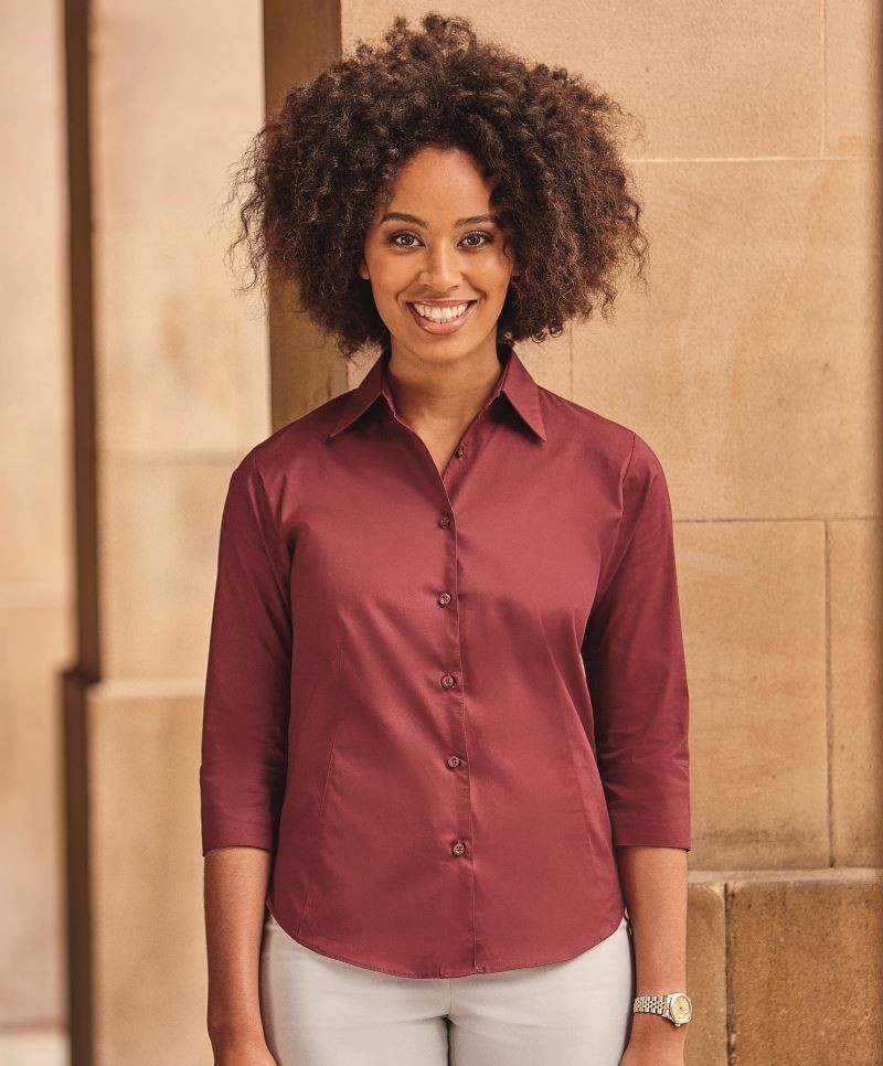 660458e6d811 Dámska business casual košeľa 3 4 rukáv