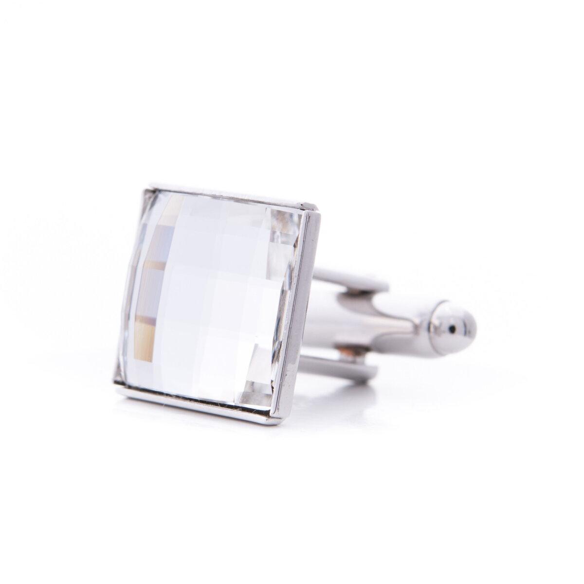 680d7810b Manžetové gombíky so Swarovski® kameňmi - Crystal | Krabička v cene