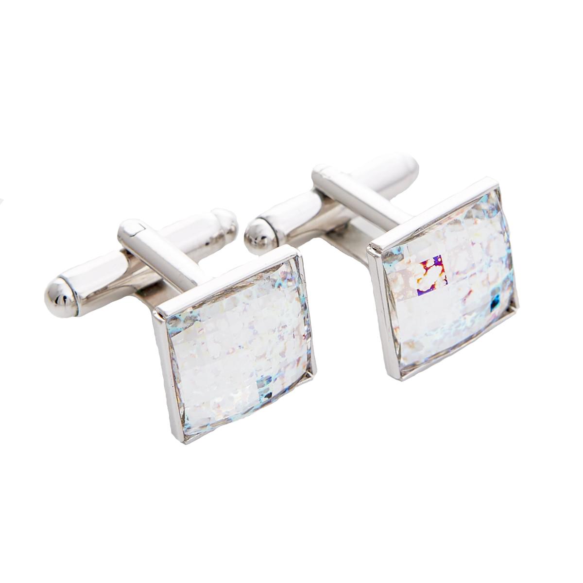 e3cbcd9db Swarovski® White Patina manžetové gombíky | SmartMen.sk