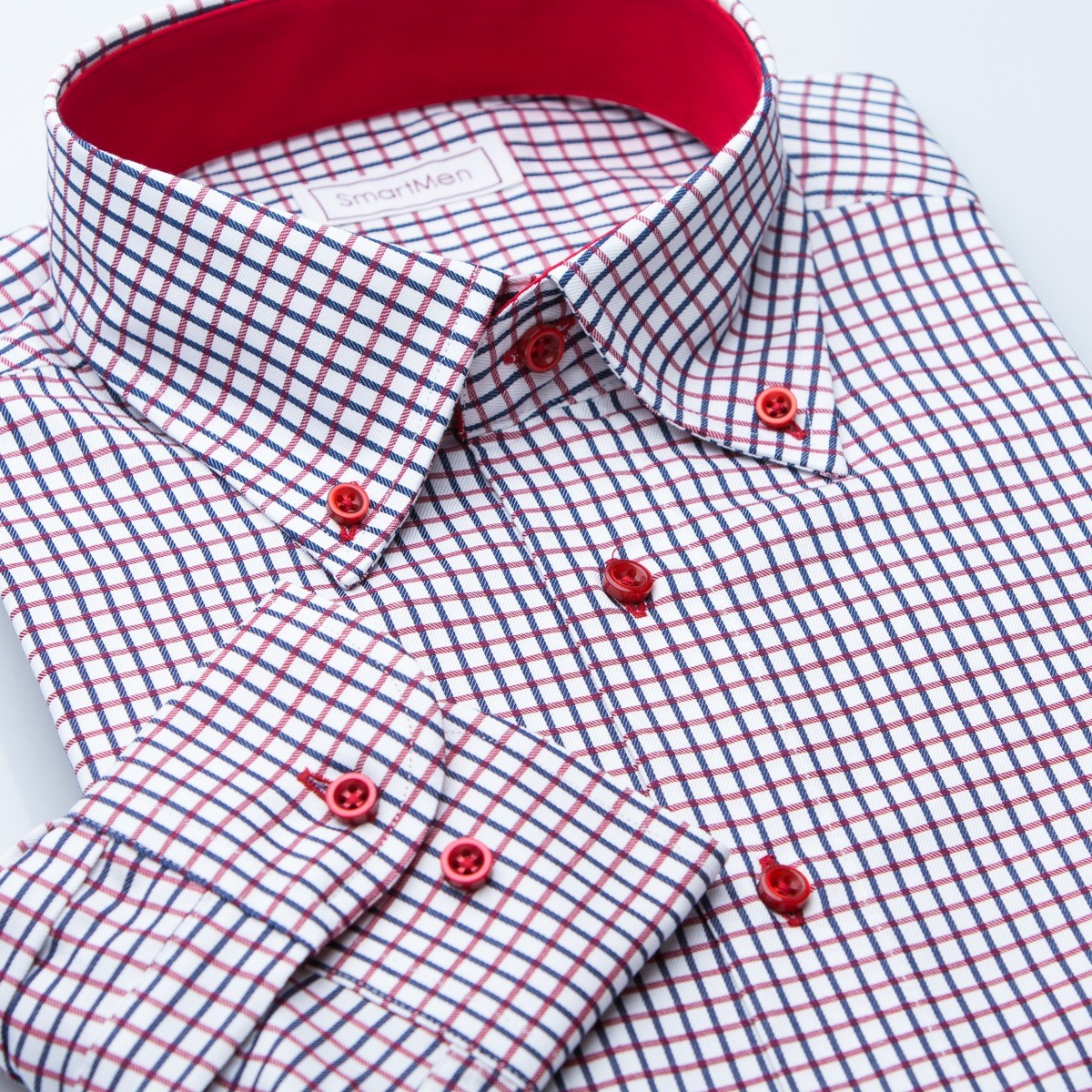 1c6f1c28bca0 Casual košele Button-down s červeným kontrastom