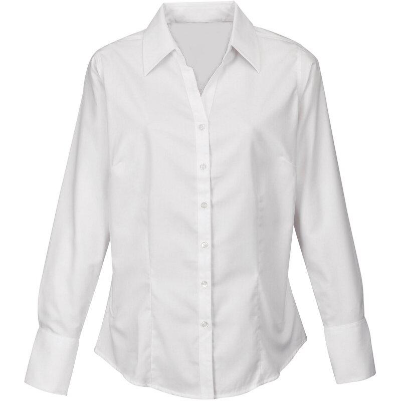 217284ba5476 Firemná košeľa dámska biela dlhý rukáv 100 % bavlna s úpravou pre ľahké  žehlenie