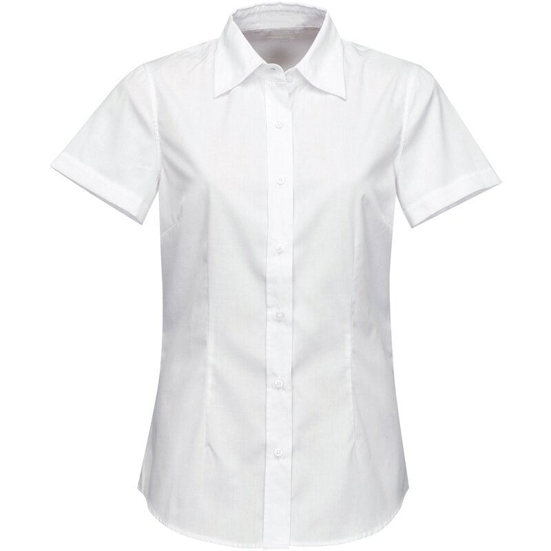 d0c5f238dfb9 Firemná košeľa dámska biela krátky rukáv 100 % bavlna s úpravou pre ľahké  žehlenie
