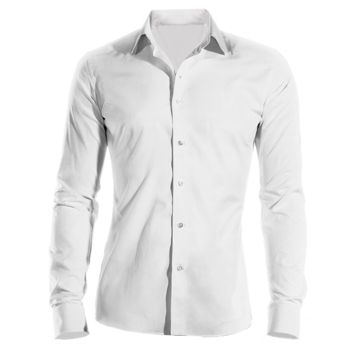 b72719bb80a1 Pracovná košeľa pánska biela dlhý rukáv 100 % bavlna s úpravou pre ľahké  žehlenie