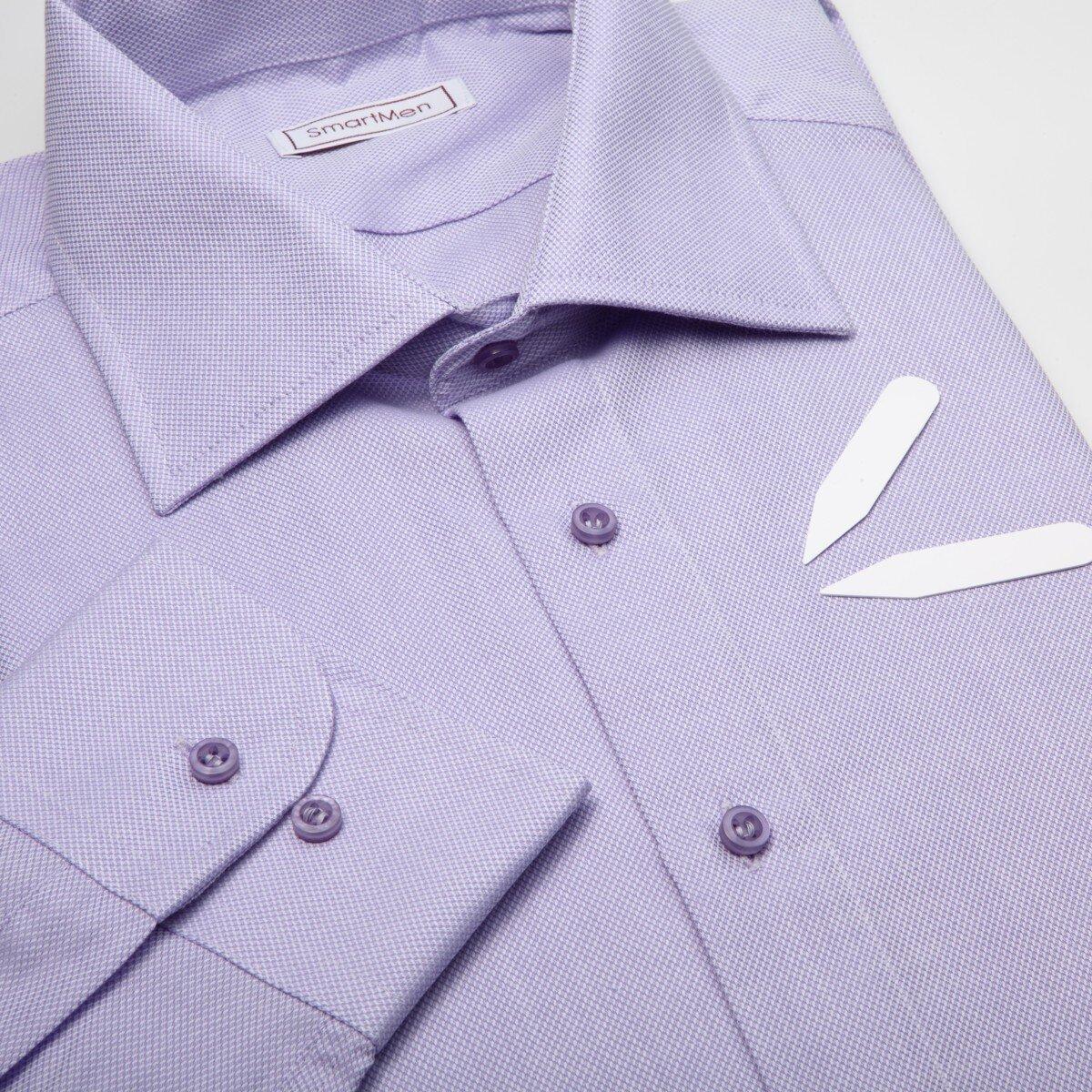 d98d94968cc0 Pánska košeľa jednofarebná fialová Royal Oxford