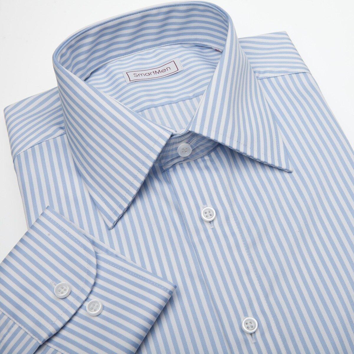 7037a12ea85c Pánska košeľa so svetlo modrým prúžkom - Non Iron - nežehlivá
