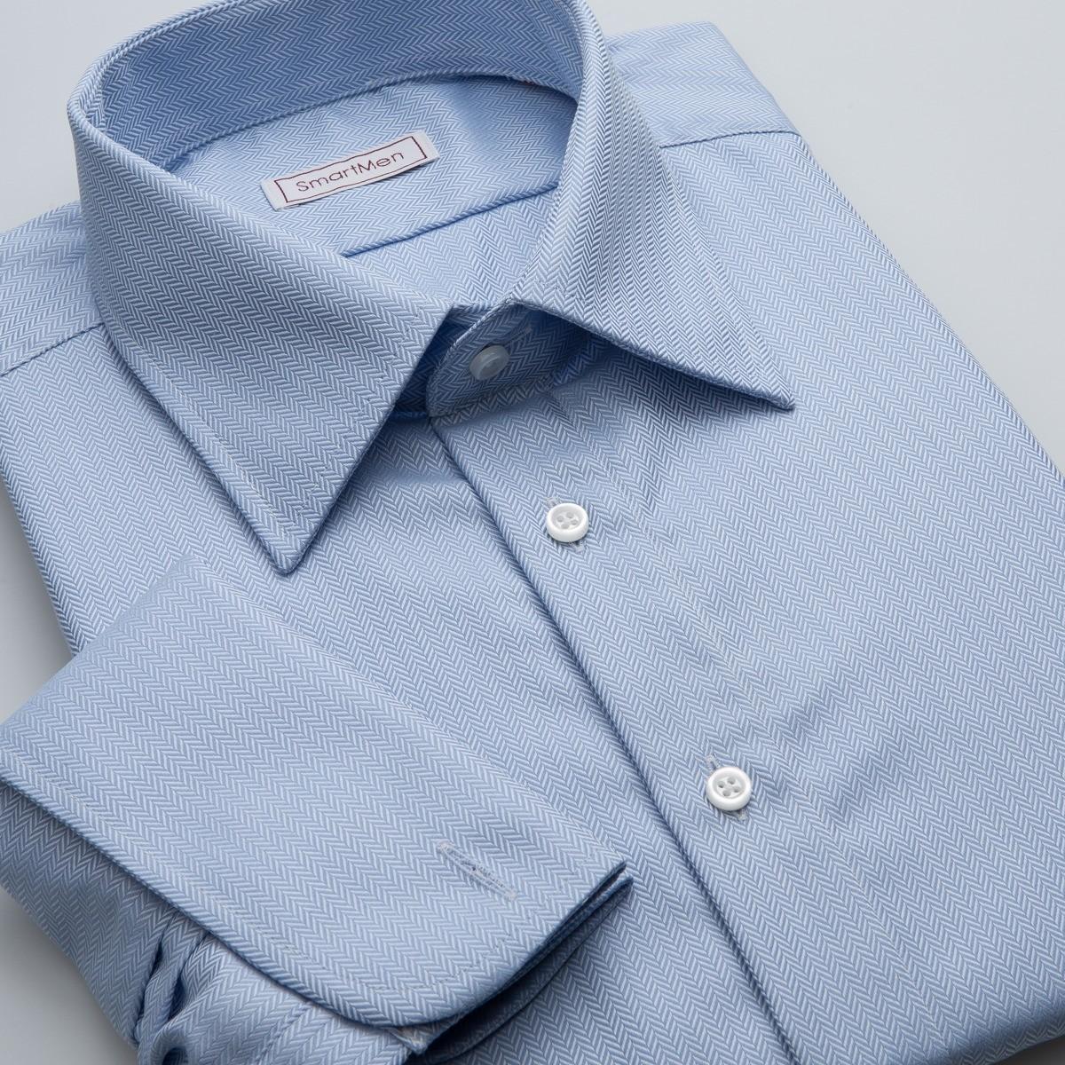 4cdb300ce112 Luxusná pánska košeľa nebesky modrá na manžetové gombíky