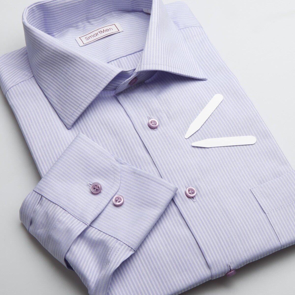 492609d1bfe0 SmartMen.sk  Pánska košeľa fialový prúžok - Business