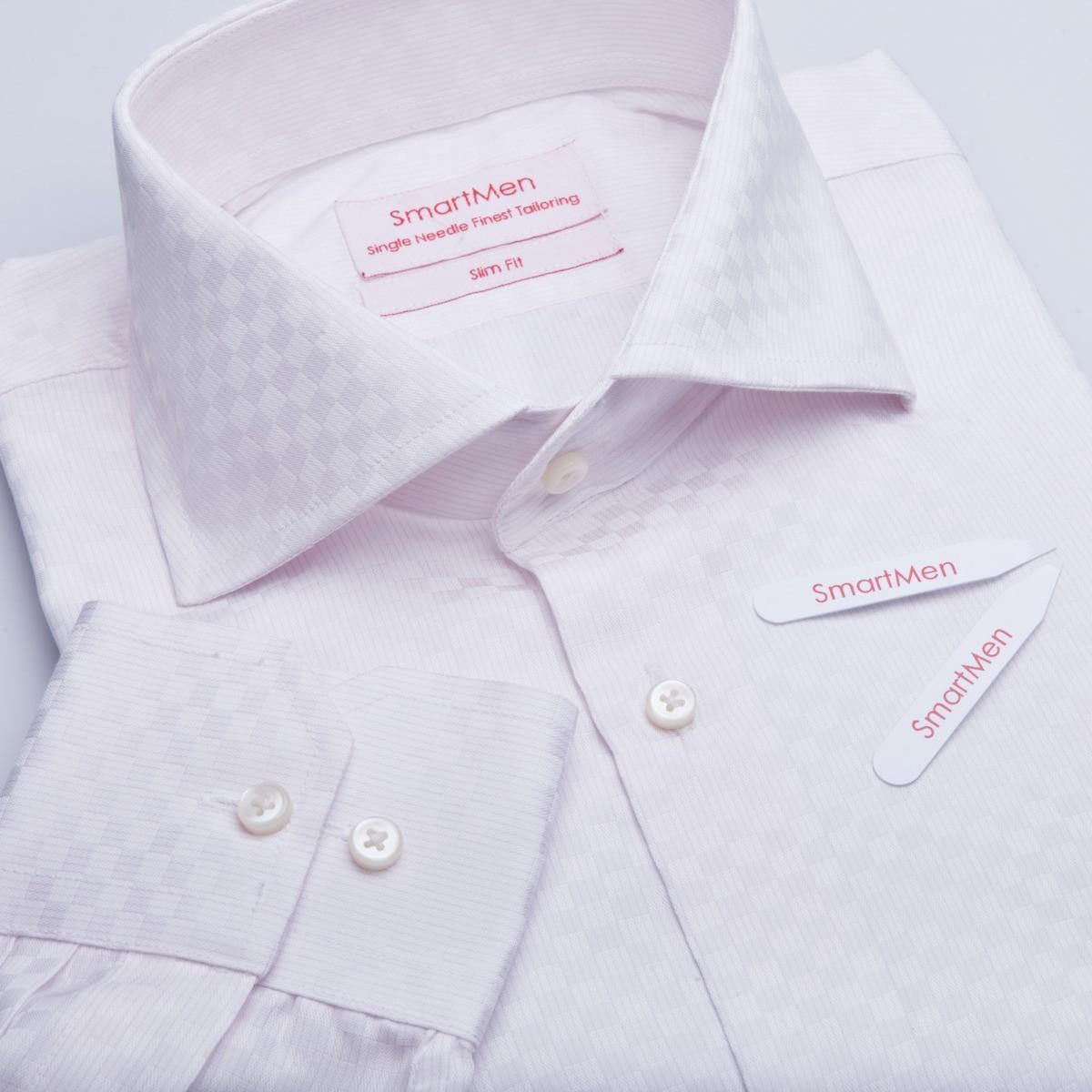 a4e0dc183625 Pánska košeľa károvaná - široko rozovretý golier