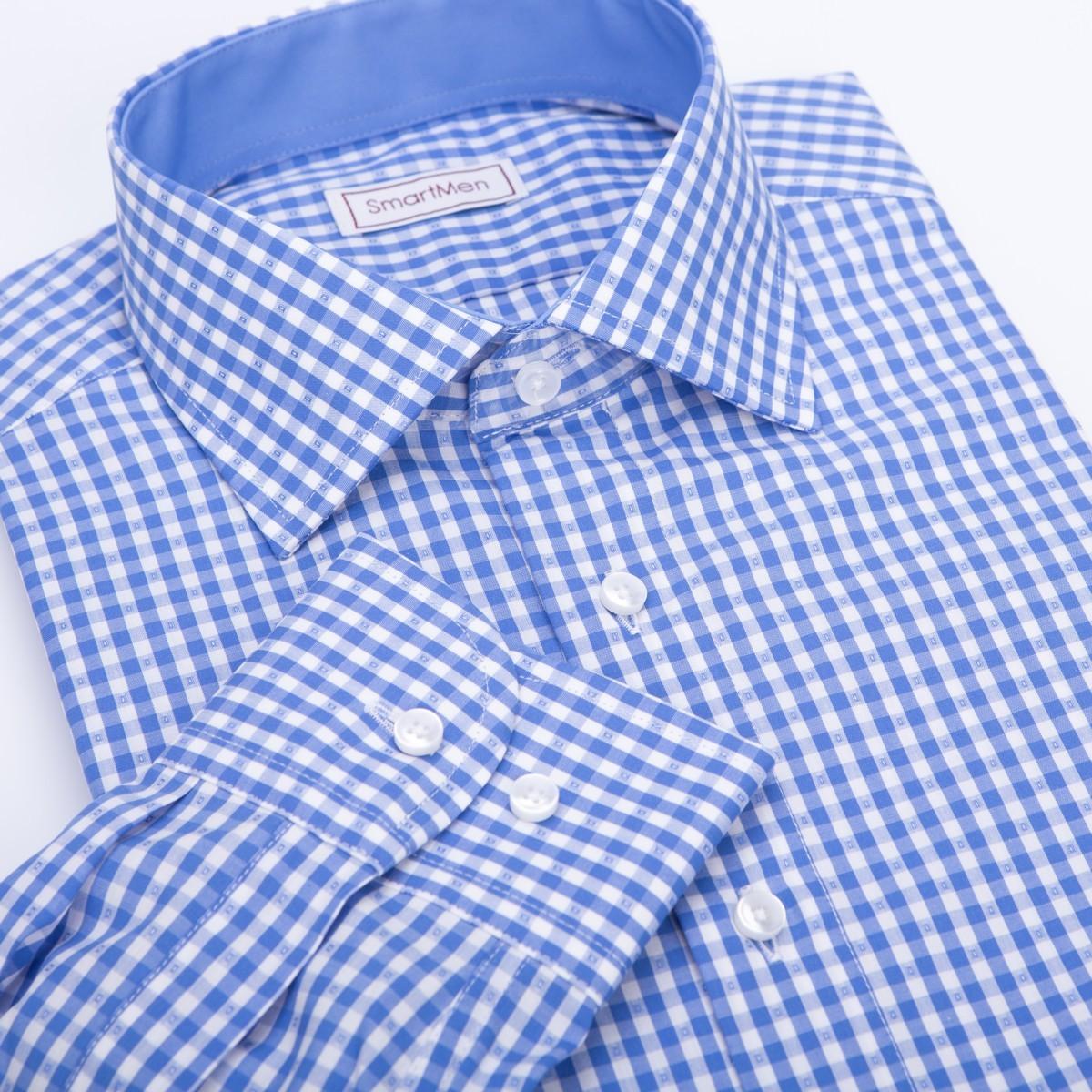 ec62d2beb361 Kockovaná košeľa modrá - Casual na piatok