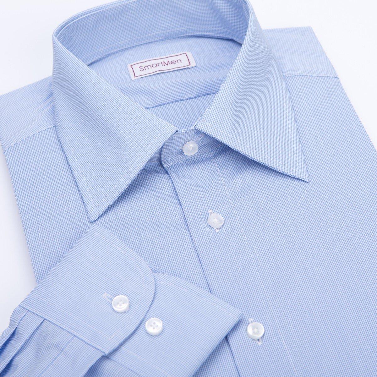 0abc19753a4b Pánska modrá košeľa Business z odolného materiálu
