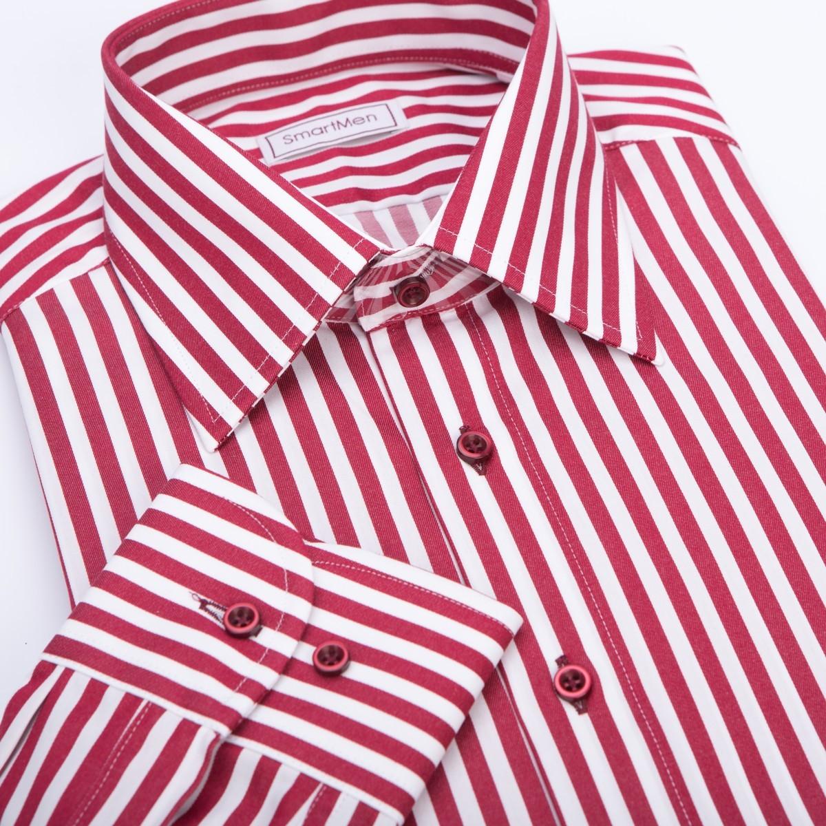 7344a3d68d74 Pánska košeľa bordó v prúžku Non Iron