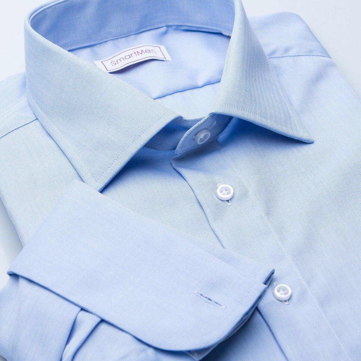 1bfeb5631daf Pánska luxusná košeľa modrá na manžetové gombíky