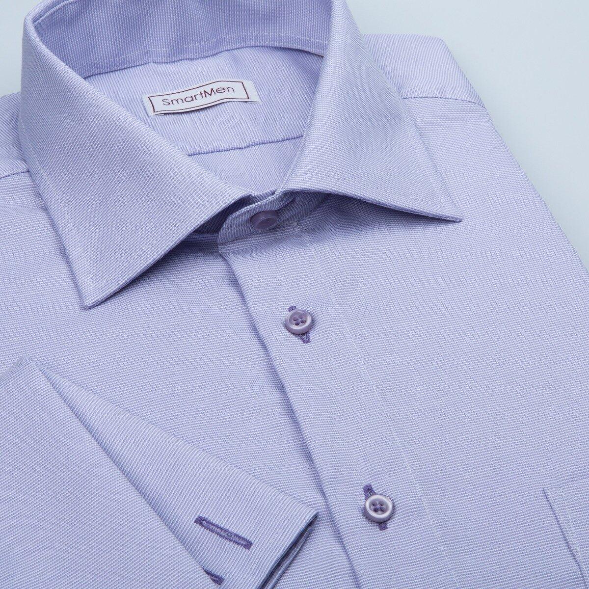 57d223411d34 Pánska luxusná košeľa fialová na manžetové gombíky