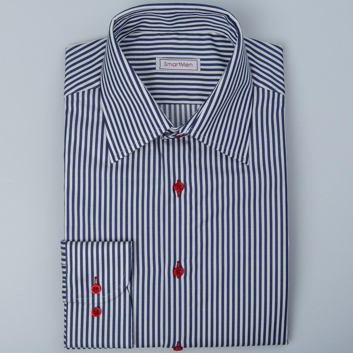 adc2f8829d73 Pánska košeľa modrý prúžok Non Iron SmartMen
