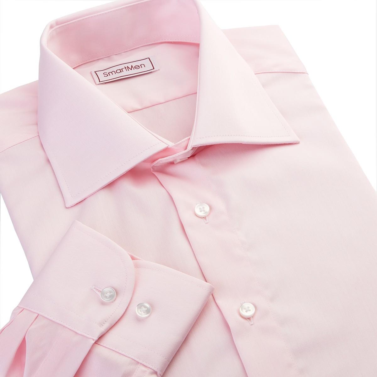 8f255bf79d22 Lososová spoločenská košeľa dlhý rukáv