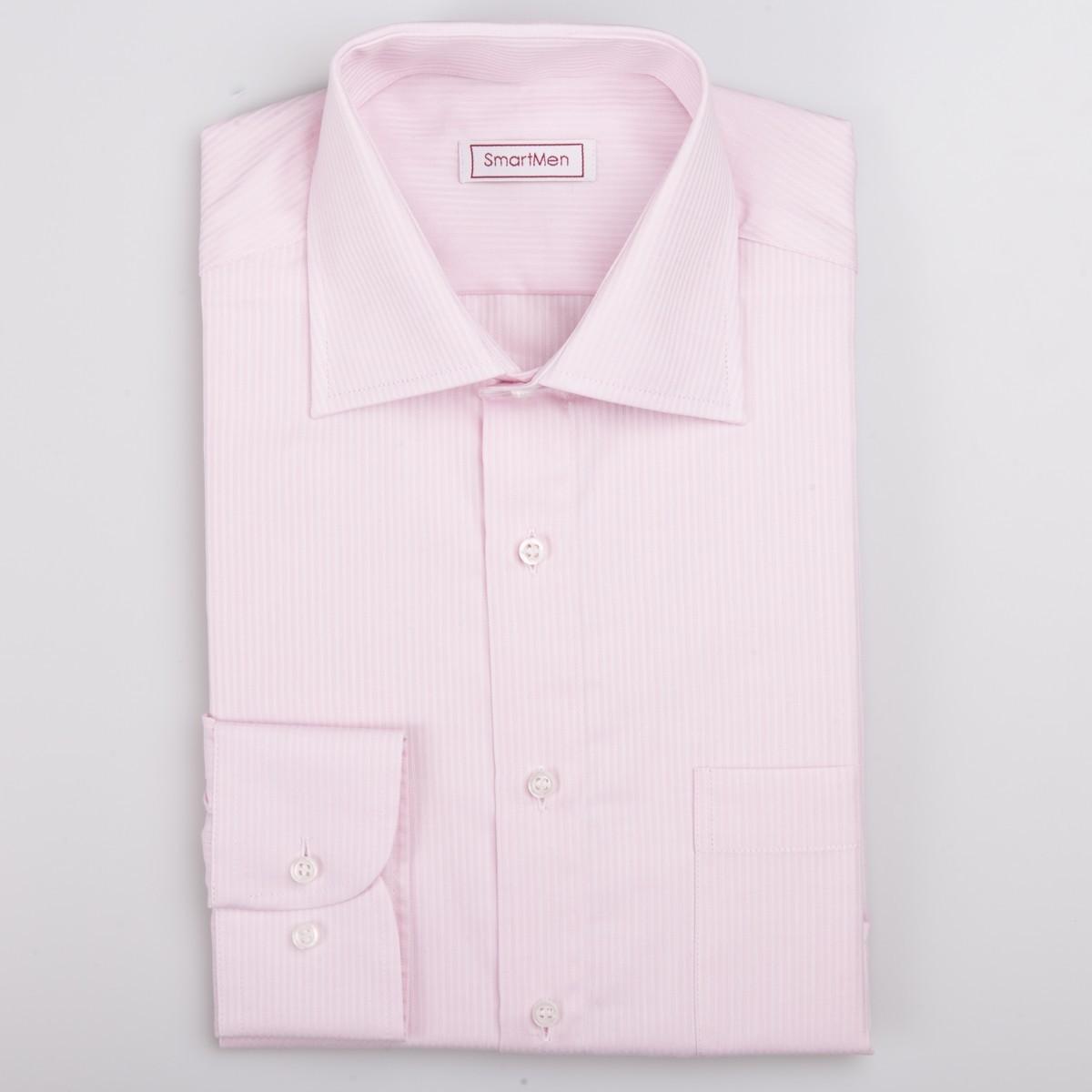 7f77631d9036 Ružová košeľa pánska dlhý rukáv Business SmartMen