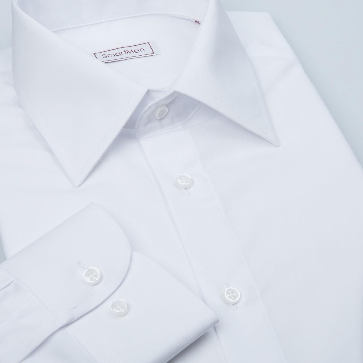 94188fa7e106 Čisto biela pánska košeľa dlhý rukáv Non Iron