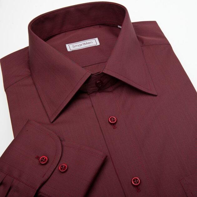 0a1b628be6e9 Červená a vínová košeľa s kravatou