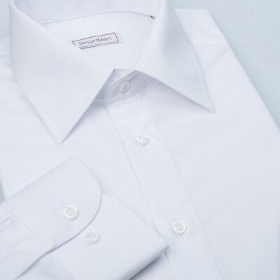 8504becc216e Čisto biela pánska košeľa dlhý rukáv Non Iron