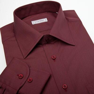 79c09a92fb8a Červená a vínová košeľa s kravatou