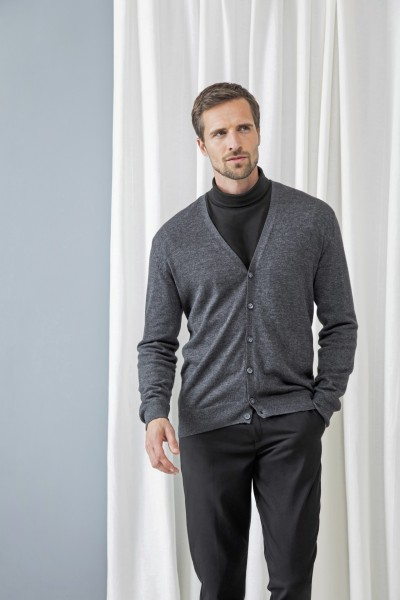 Pánsky Regular fit pletený cardigan do V Henbury