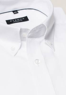 Button-down košeľa ETERNA Comfort Fit Royal Oxford biela Non Iron