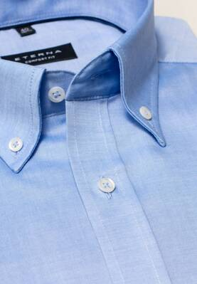 Button-down košeľa ETERNA Comfort Fit Royal Oxford modrá Non Iron