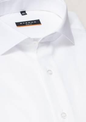 afecac0c0250 ETERNA Slim Fit stretch košeľa pánska čisto biela nežehlivá úprava Business  golier