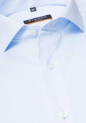 2c88eff975da ETERNA Slim Fit stretch košeľa pánska svetlomodrá nežehlivá úprava Business  golier