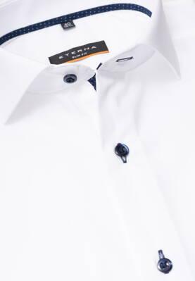 d565f88d4204 Smart Casual košeľa ETERNA Slim Fit stretch biela s kontrastom Non Iron  Business golier