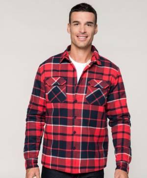 3374b38d833c Čierno červená pracovná košeľa flanel podšívka