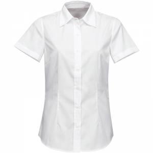 Firemná košeľa dámska biela krátky rukáv 100 % bavlna s úpravou pre ľahké  žehlenie 4188643673