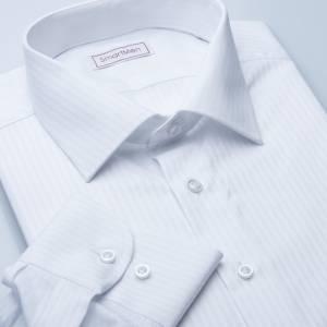 be2e51ef8df4 Pánska košeľa biela Elegancia Slim prúžok