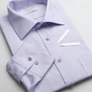c67829b0ee0c Pánska košeľa fialový prúžok - Business