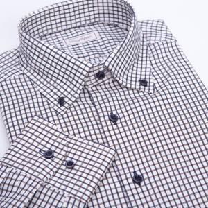 1473716b0f77 Casual košeľa károvaná hnedá s modrou Button-down