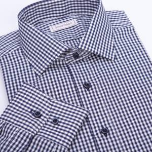 9b795907c6c0 Pánska košeľa modrá kocka - Charleston II