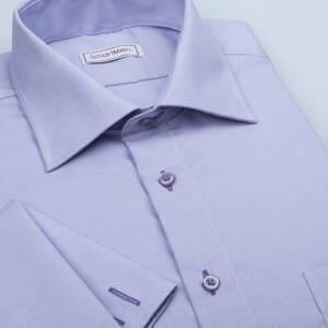 d76e4077925b Pánska luxusná košeľa fialová na manžetové gombíky