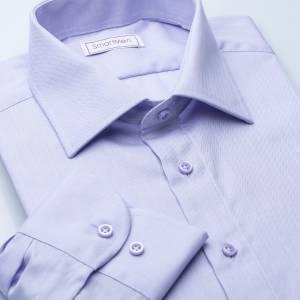 0388465e49df Pánska spoločenská košeľa fialová Herringbone Slim