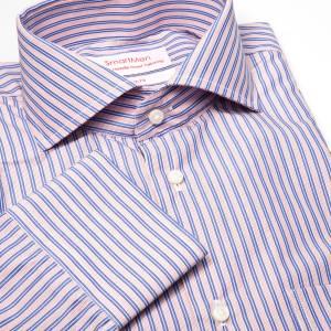b0fdf8e893eb Pánska košeľa modrý a ružový prúžok. ZĽAVA 50 ...