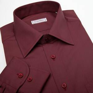 c35bd23ca2bf Vínovo červená košeľa s dlhým rukávom s gombíkmi vo farbe